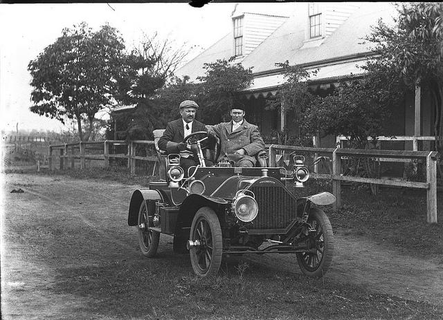 Humber car, Shoalhaven, ca. 1906 / photographer Cyrus S. Moss | Flickr - Photo Sharing!