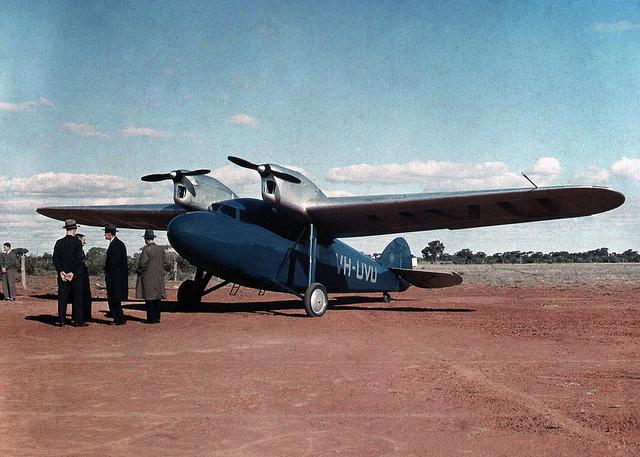 VH-UVU Tugan LJW.7 Gannet, Wilcannia, NSW, between 1935-1937 / photographer Reverend Edward (