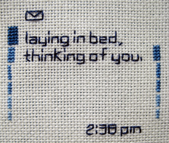 Embroidered Text Messages, received 02/06-04/07