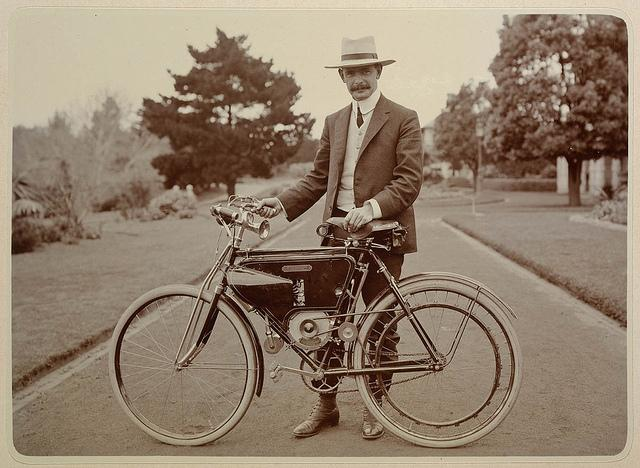 An early Motosacoche motorcycle From Family and holiday album, 1899-1908 / photographed by Arthur D. Whitling | Flickr - Photo Sharing!