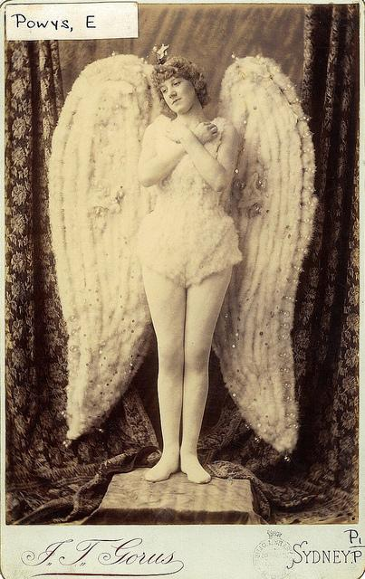 Miss Gertrude Powys as The Angel in the pantomime Sleeping Beauty at the Theatre Royal, 1886 / photographer J. T. Gorus, Sydney | Flickr - Photo Sharing!