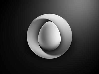 Mobius nest egg logo by Jan Zabransky