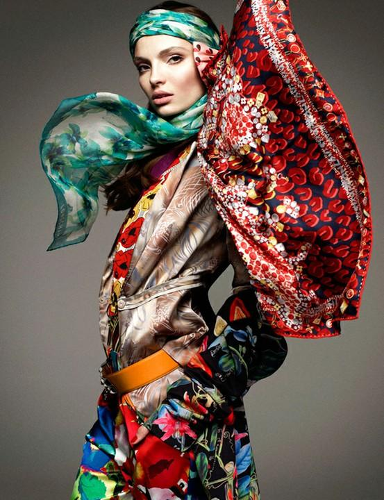 Photo:Idea:lighting, color & texture / Carola Remer by Greg Kadel for Vogue Germany January 2012