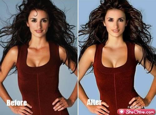 Photoshopped Images of Celebrities : theBERRY
