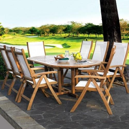 Teak Wood Furniture Complite Patio Dining Set - Seats 8 People