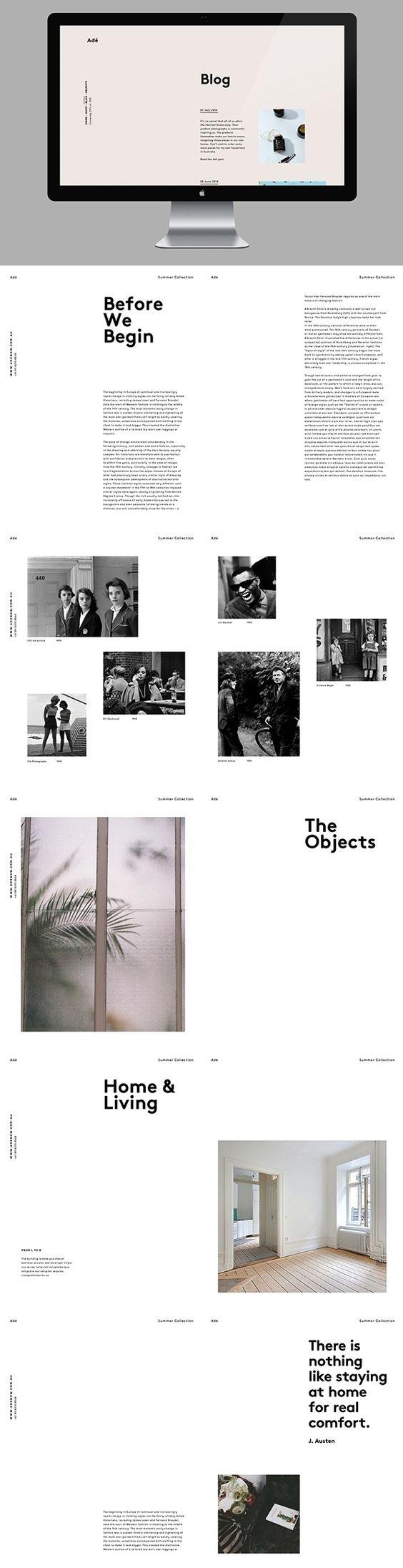 Adé blog web design | Editorial / Poster | Pinterest