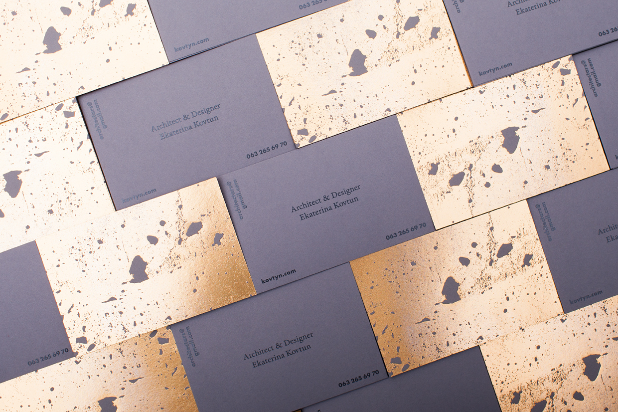 Golden concrete architect business card - Mindsparkle Mag #623764 ...