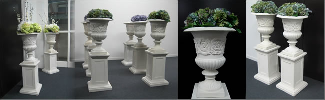 Wedding pedestals, pillars and urns for hire in Auckland CBD