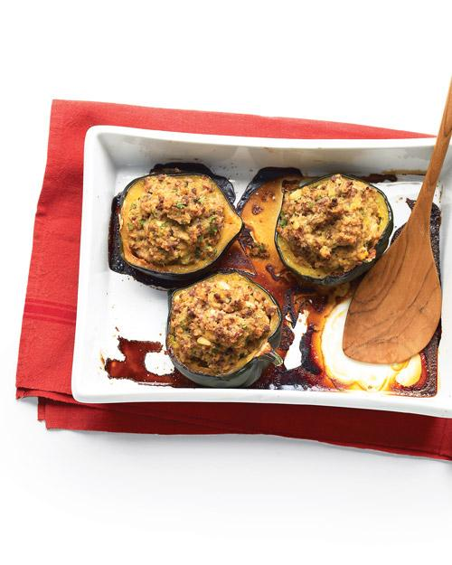 Moroccan-Style Stuffed Acorn Squashes - Whole Living Eat Well