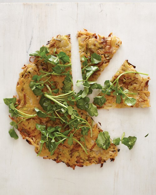 Potato and Leek Galette with Watercress - Martha Stewart Recipes