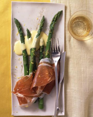 Asparagus with Prosciutto and Lemon Sabayon - Martha Stewart Recipes
