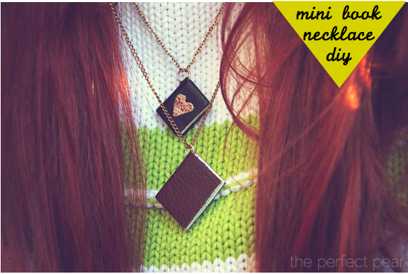 The Perfect Pear: Mini Book Necklace // DIY