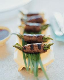 Beef and Asparagus Negimaki - Martha Stewart Recipes