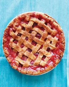 Rhubarb-Strawberry Lattice Pie - Martha Stewart Recipes