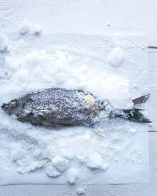 Salt-Baked Striped Bass - Martha Stewart Recipes