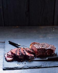 Steak au Poivre with Balsamic Reduction - Martha Stewart Recipes