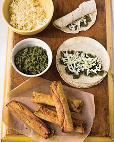 Cheese Flautas with Cilantro Pesto - Martha Stewart Recipes
