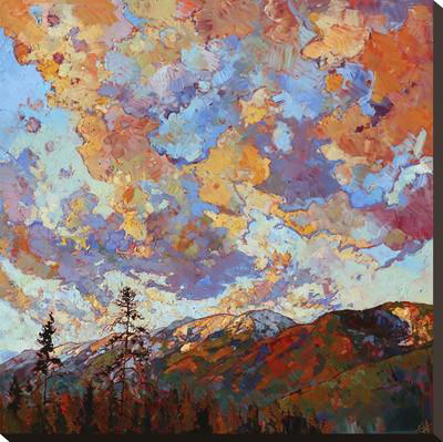 Over the Crest Stretched Canvas Print by Erin Hanson at Art.com