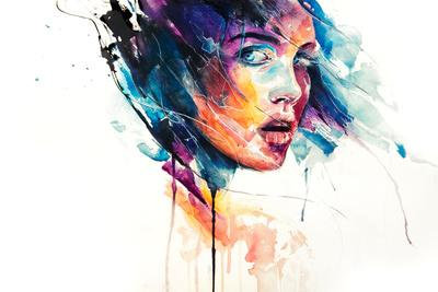 sheets of colored glass Art Print by Agnes-cecile | Society6