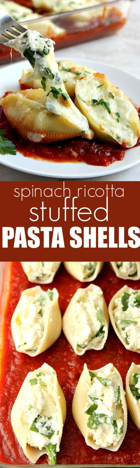 Spinach and Ricotta Stuffed Pasta Shells Recipe | Buzz Inspired