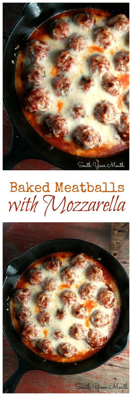 Baked Meatballs with Mozzarella Recipe | Buzz Inspired