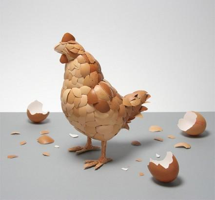 Eggshells Makes a Mother Chicken