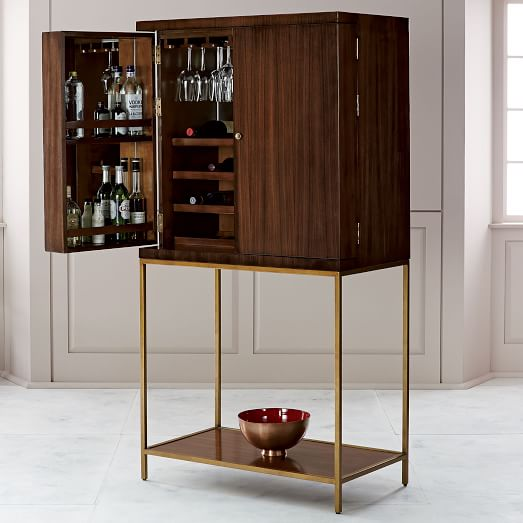 West elm bar cabinet