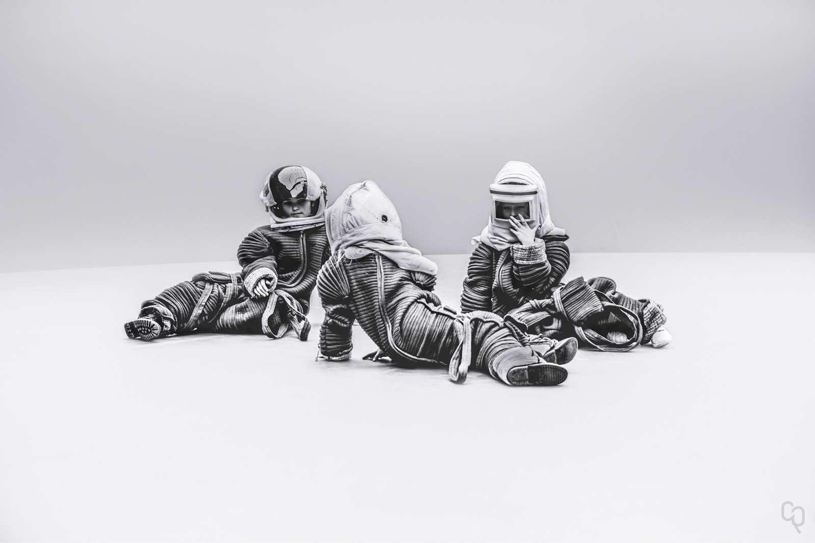 Blank Space: Black and White Astronaut Portraits by Robert Cybulski