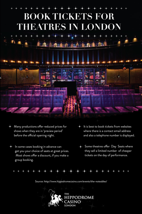 Many productions offer reduced prices for shows when they are in 'preview period' before the official opening night. For more details, visit http://www.hippodromecasino.com/ by Lucia Gray | We Heart It