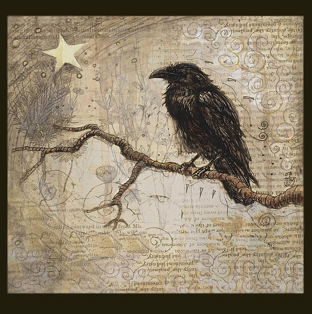 Raven Illustration for South San Gabriel CD -