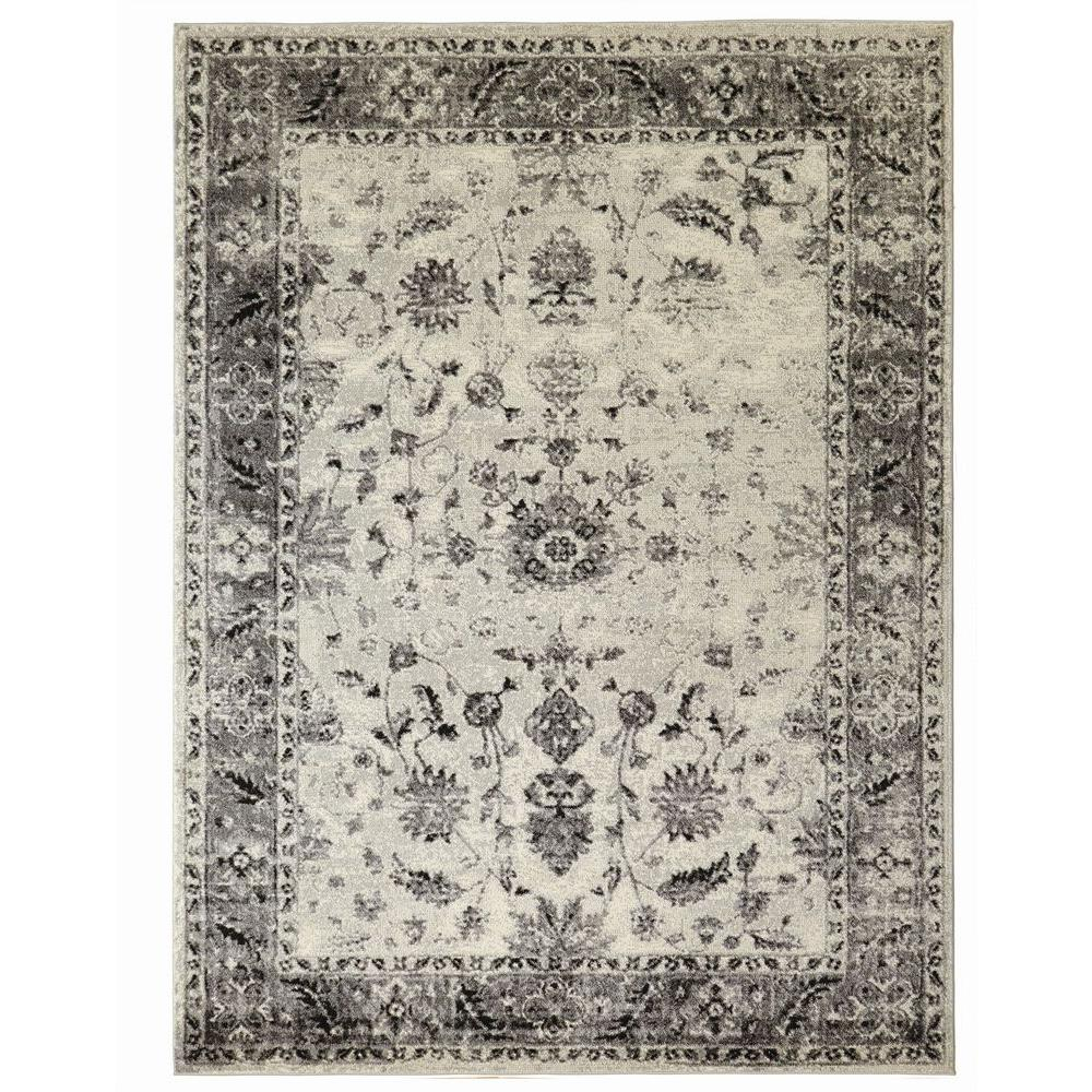 Home Decorators Collection Old Treasures Gray 7 ft. 10 in. x 9 ft. 10 in. Area Rug-25167 - The Home Depot