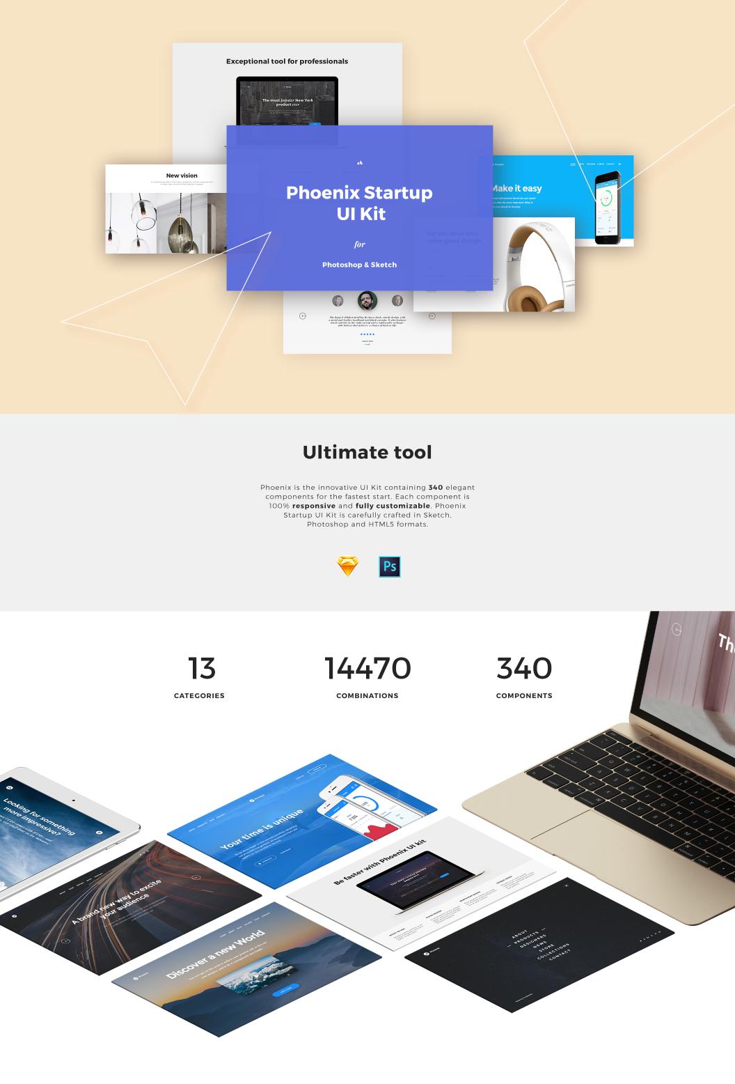 UI8 — Products — Phoenix Startup UI Kit
