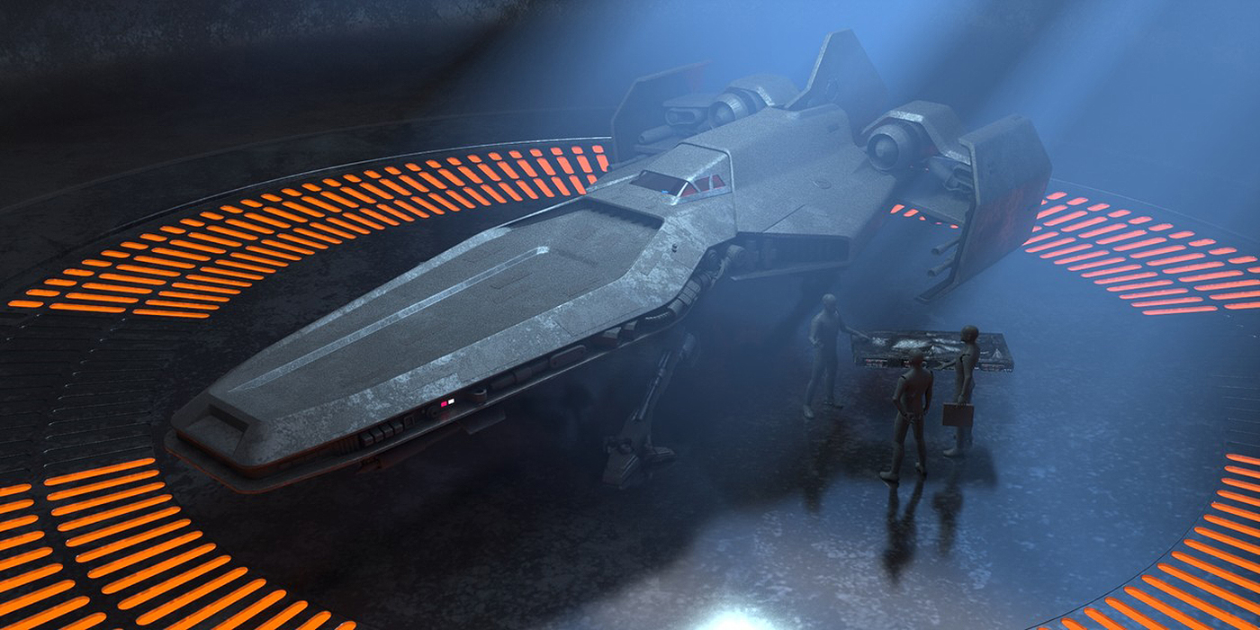 ILM Art Dept Challenge - Bounty Hunter Ship process on