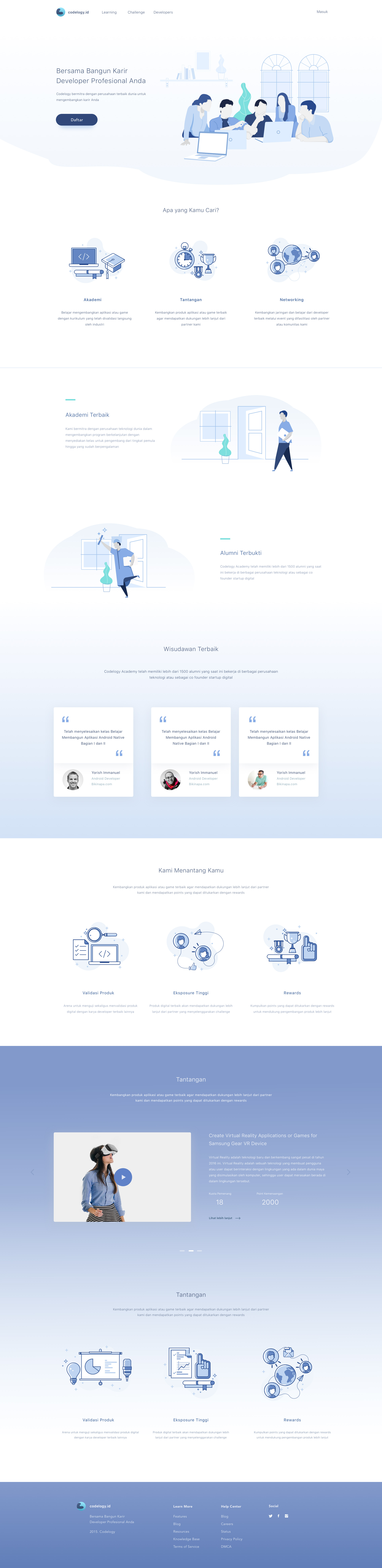 Education Platform Website – SiteUp