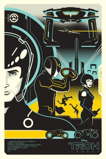 Designspiration — OMG Posters! » Archive » Tron and Tron: Legacy Posters by Eric Tan (Onsale Info)
