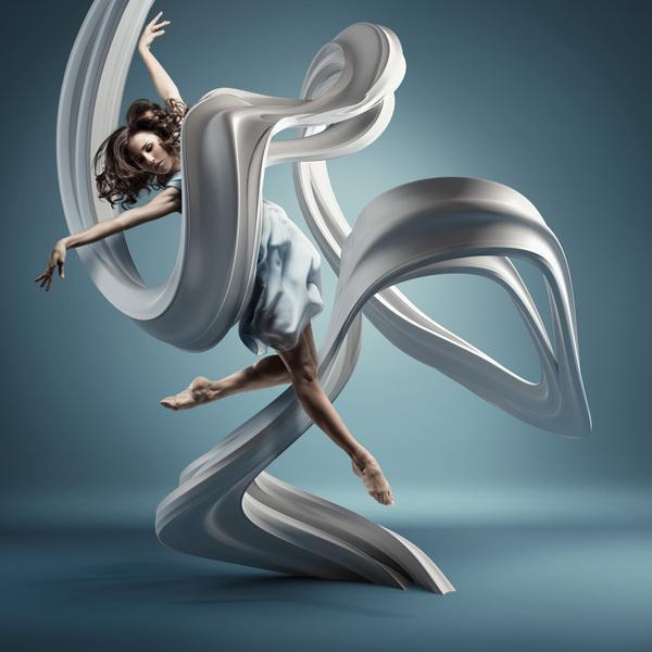 Numérique motion DANS l'air | Inspiration design graphique et Photoshop Tutoriaux | Abduzeedo