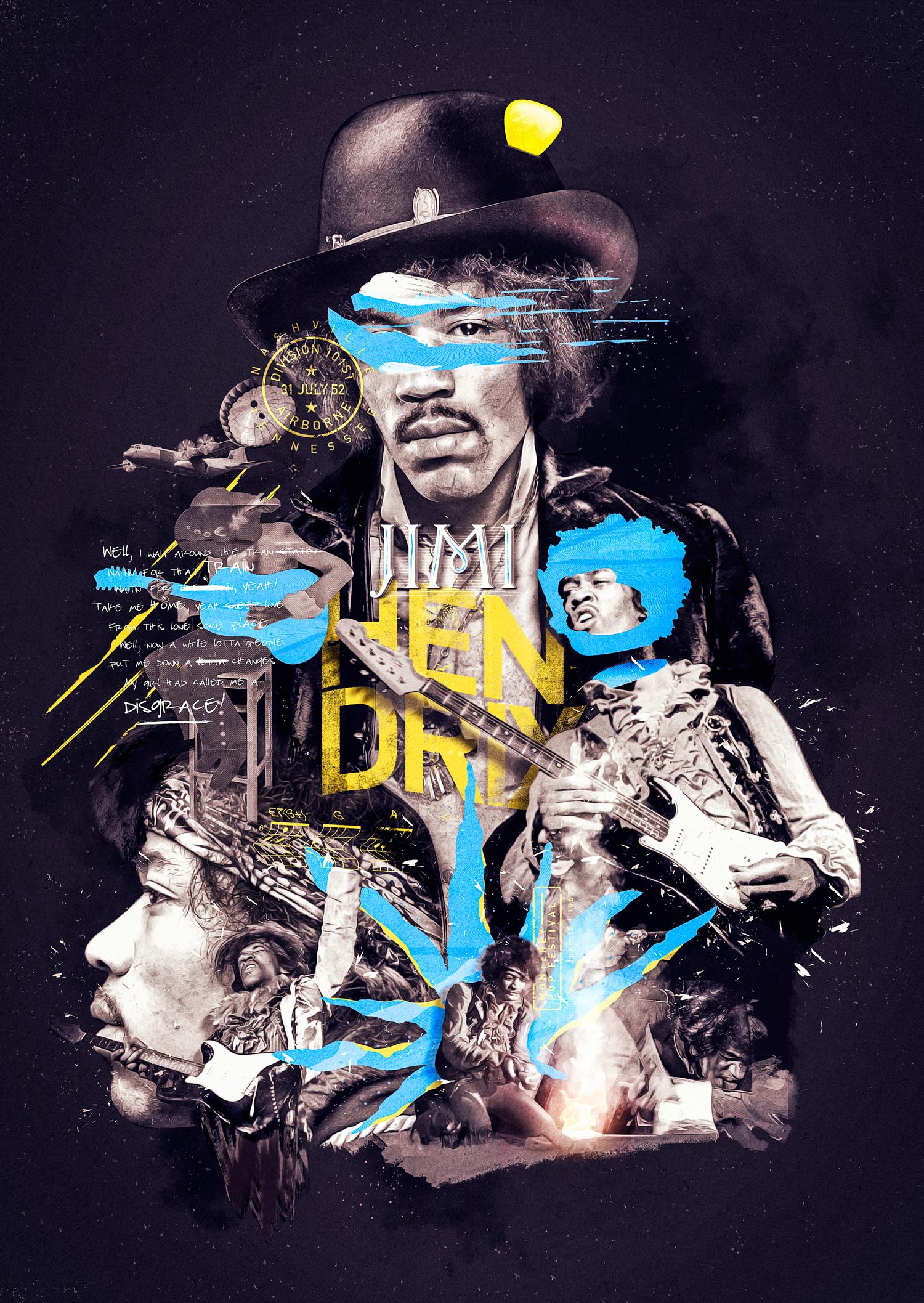Jimi Hendrix - Poster on