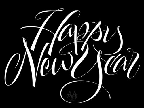 Typeverything.com - Happy New Year par Alan Ariail. - Typeverything