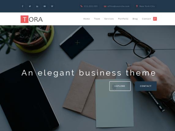 Tora — Free WordPress Themes