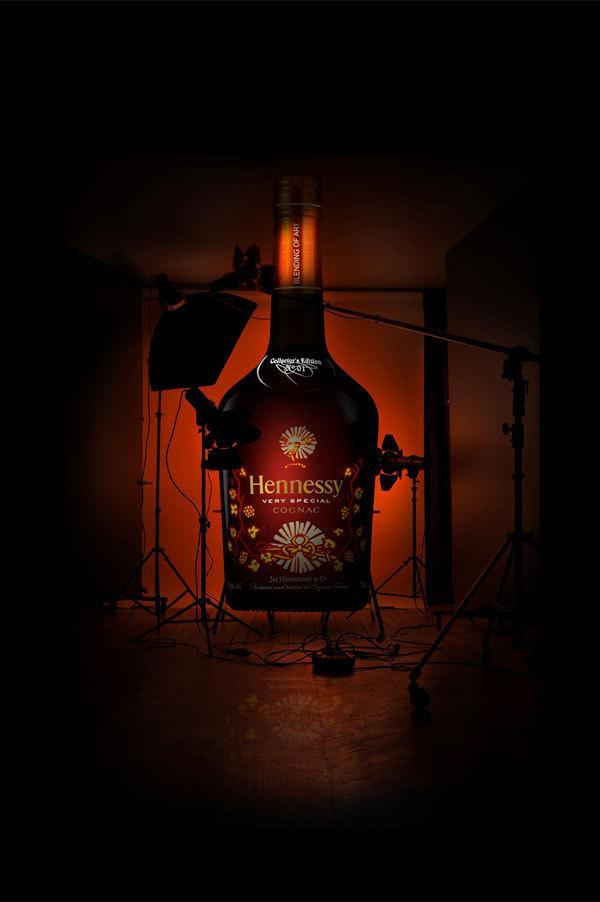 Mélange Hennessy de l'art sur le réseau