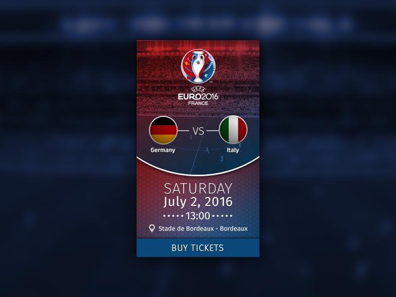 UEFA Euro 2016 Germany vs Italy by Ben Mettler