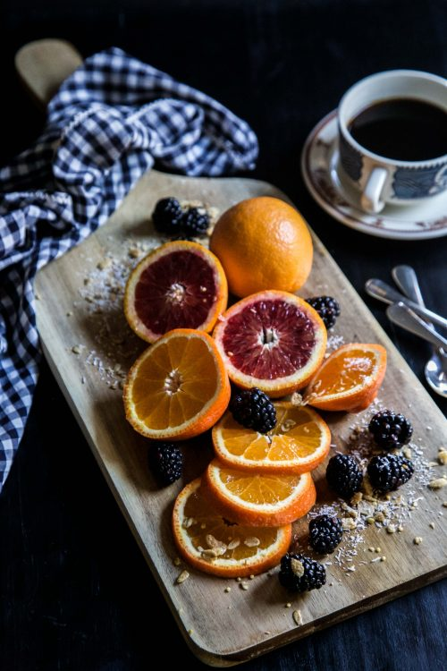 Blood Orange & Blackberry Granola Oat Bowls - Climbing Grier Mountain