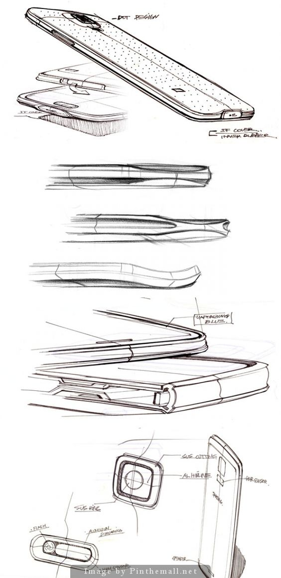 Galaxy S5 sketches - created via http://pinthemall.net | { sketch } | Pinterest