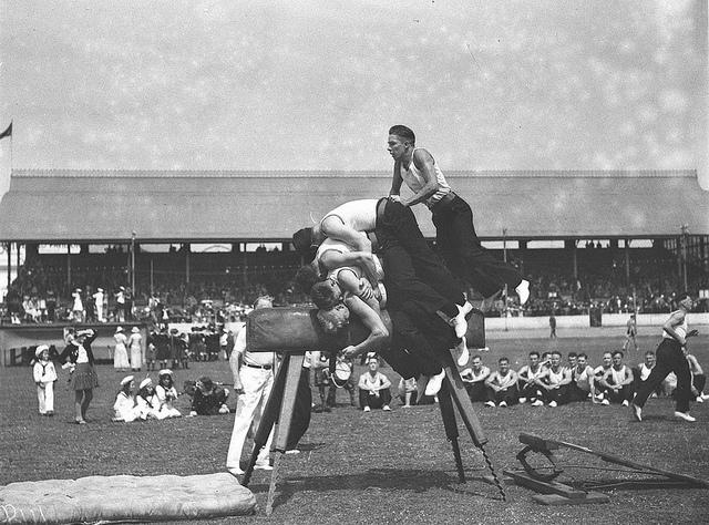 Men's vault, Highland Society's Caledonian Games, Sydney Showground, 1 January 1935 by Sam Hood | Flickr - Photo Sharing!