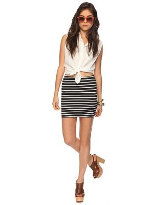 Striped Knit Skirt | FOREVER21 - 2078968541
