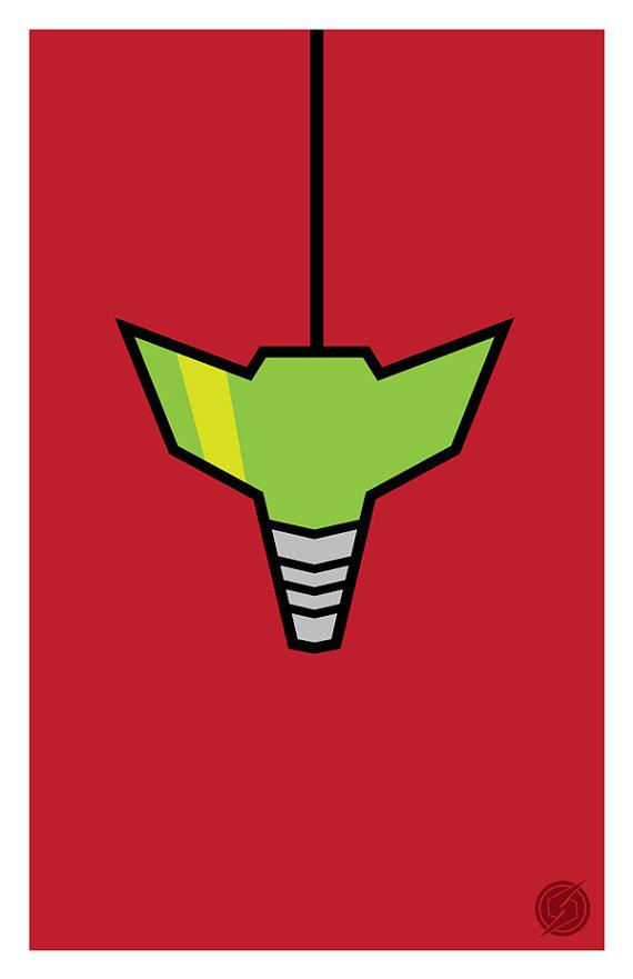 Metroid Samus Aran minimal modern art print by 845studio on Etsy