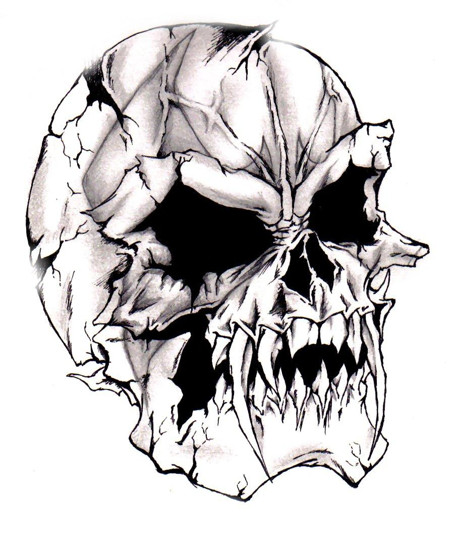 Devilish_Evil_Skull_by_darkeners.jpg (900×1071)