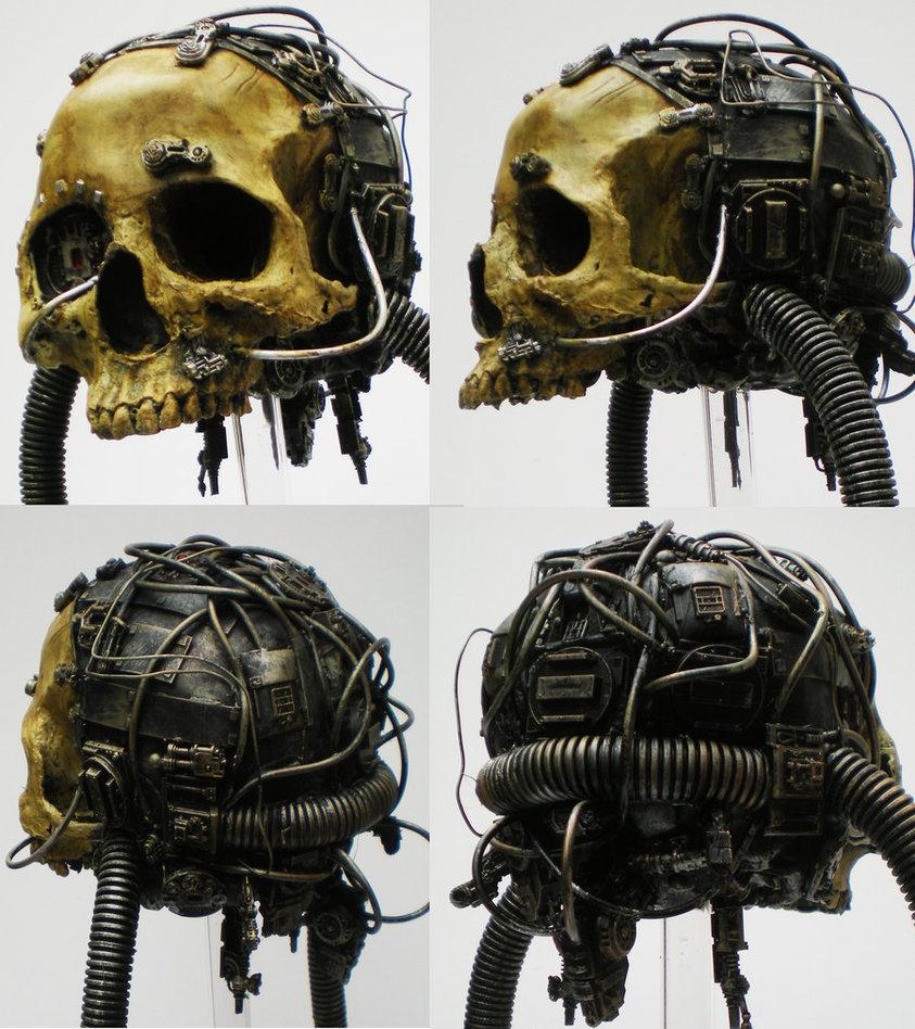servo skull, detail by ~richardsymonsart