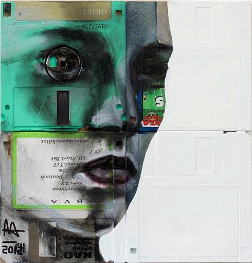 Floppy Disk Portraits by Nick Gentry | inspirationfeed.com