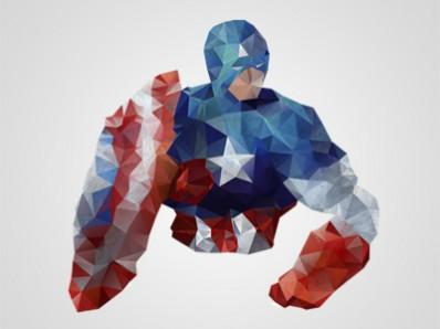 Some Polygon Art Inspired by Moi // Captain America | Lickmystyle
